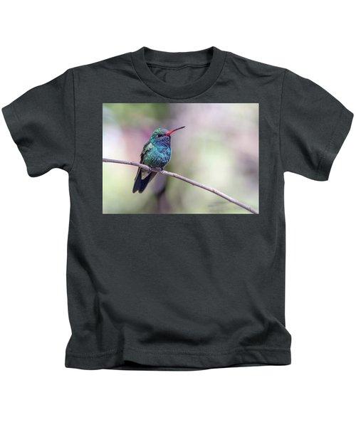 Broad-billed Hummingbird 2008-031718-1cr Kids T-Shirt