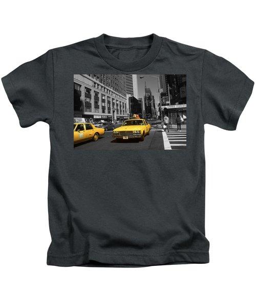 New York Yellow Taxi Cabs - Highlight Photo Kids T-Shirt