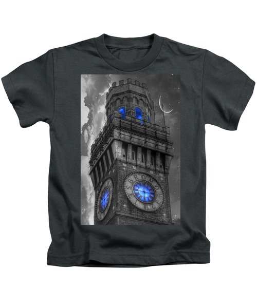 Bromo Seltzer Tower Baltimore - Blue  Kids T-Shirt