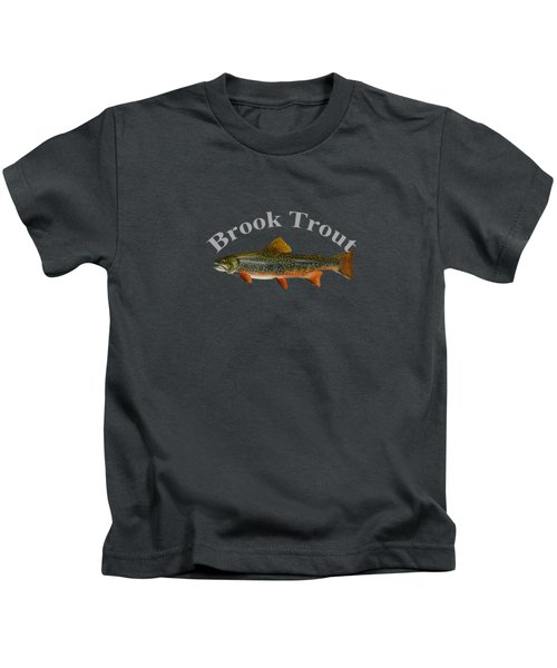 Brook Trout Kids T-Shirt by T Shirts R Us -