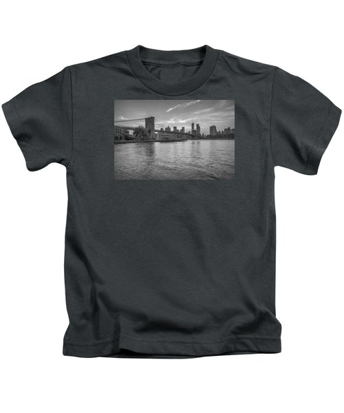 Brooklyn Bridge Monochrome Kids T-Shirt