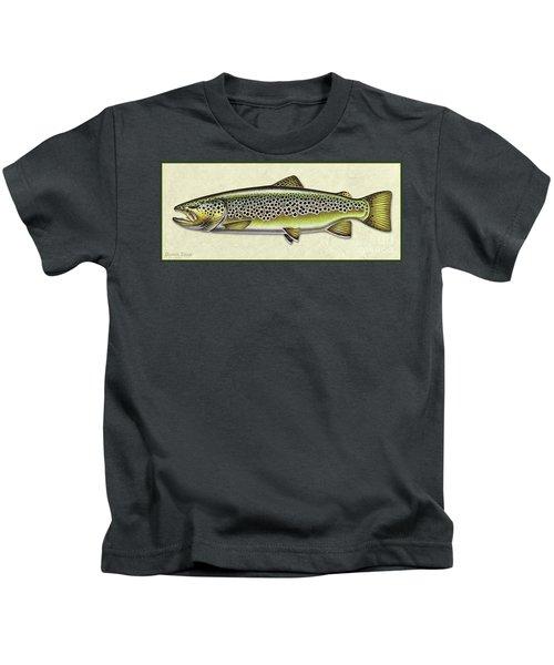 Brown Trout Id Kids T-Shirt
