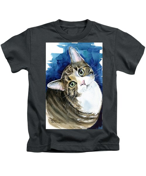 Bubbles - Tabby Cat Painting Kids T-Shirt