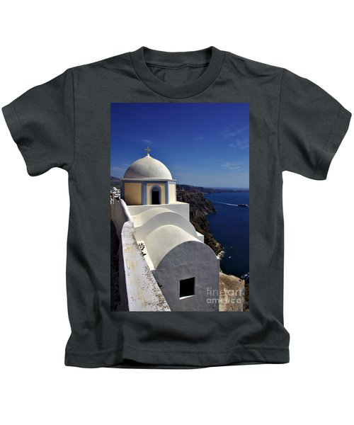 Building In Fira Kids T-Shirt