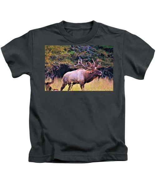 Bull Calling His Herd Kids T-Shirt