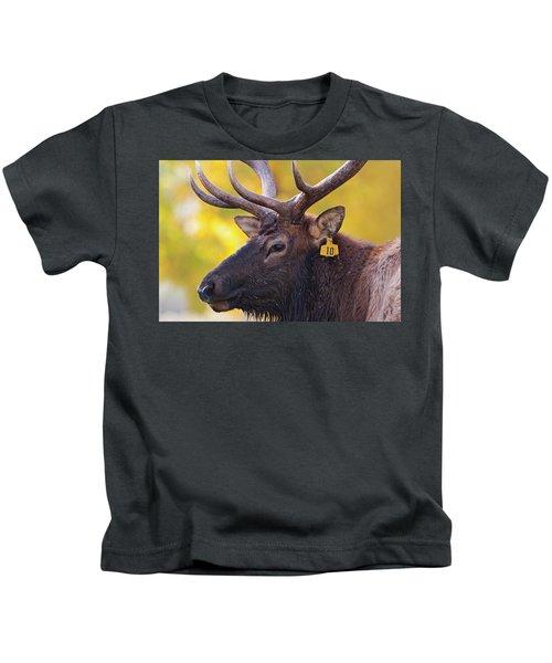 Bull Elk Number 10 Kids T-Shirt