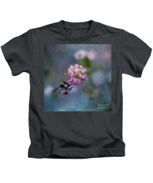 Bumblebee On Clover Blossom Kids T-Shirt