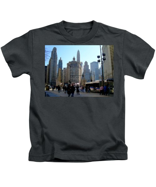 Bus On Miracle Mile  Kids T-Shirt