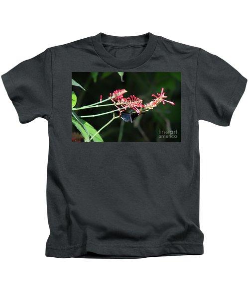 Butterfly In Flight Kids T-Shirt