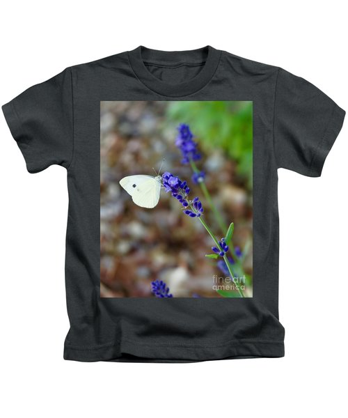 Butterfly And Lavender Kids T-Shirt