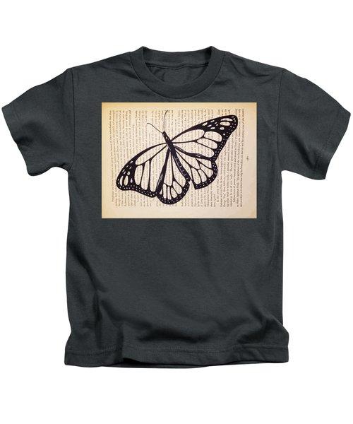 Butterfly In A Book Kids T-Shirt