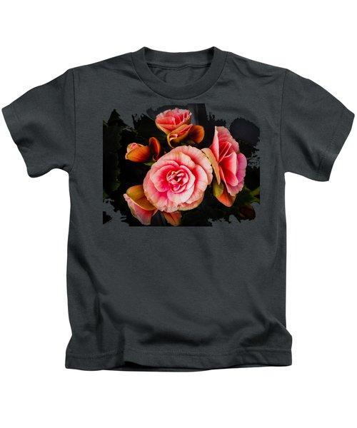 Bygone Begonias Kids T-Shirt by Jennifer Kohler
