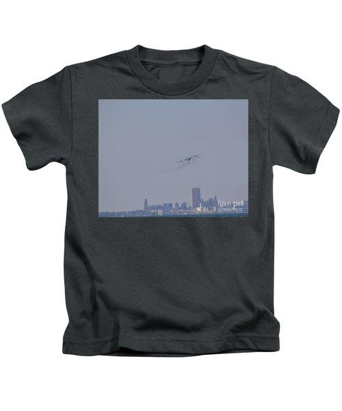 C130 Over Buffalo Kids T-Shirt