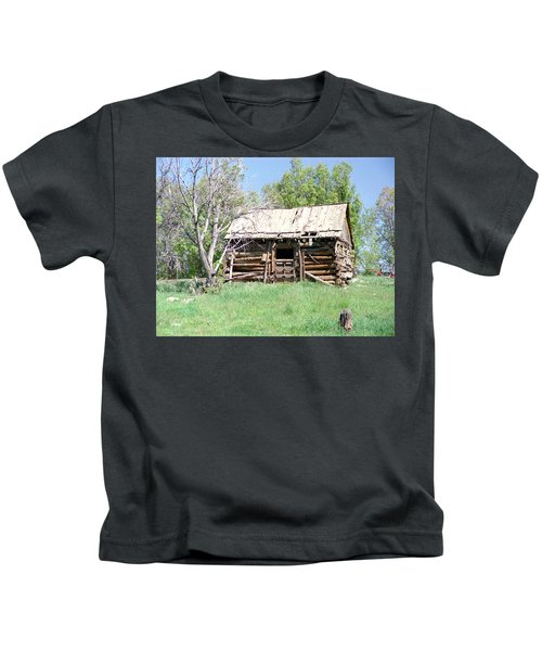 Cabin In The Mountains Kids T-Shirt