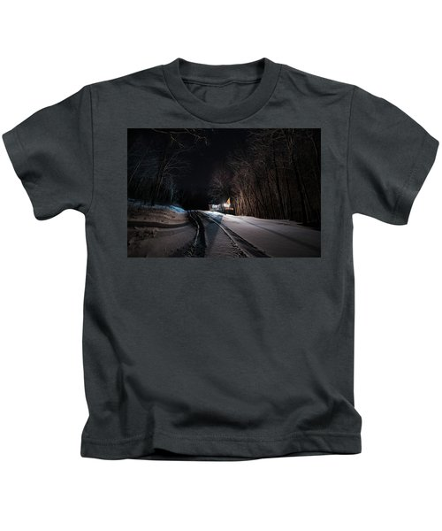 Cabin In The Winter Kids T-Shirt
