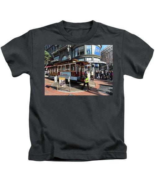 Cable Car Union Square Stop Kids T-Shirt