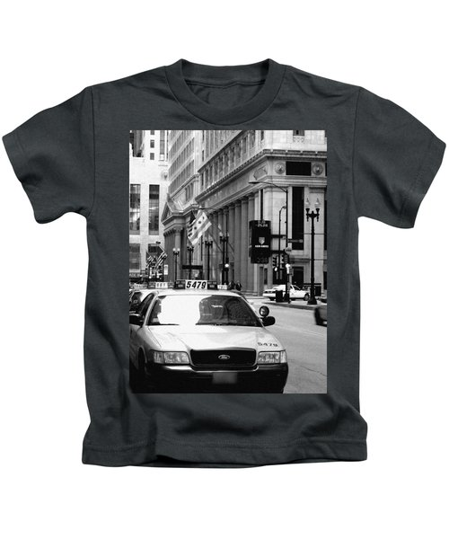 Cabs In The City Kids T-Shirt