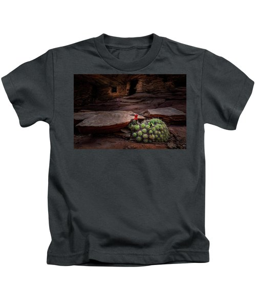 Cactus On Fire Kids T-Shirt