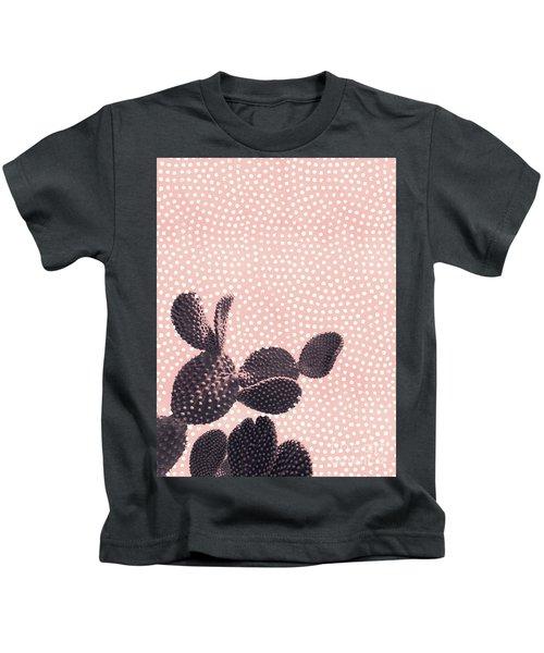 Cactus With Polka Dots Kids T-Shirt