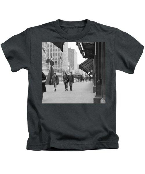 Calder Sculpture On Nicollet Mal Kids T-Shirt