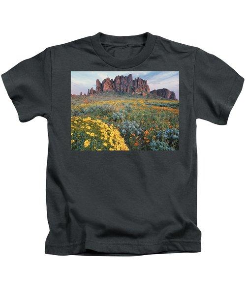 California Brittlebush Lost Dutchman Kids T-Shirt