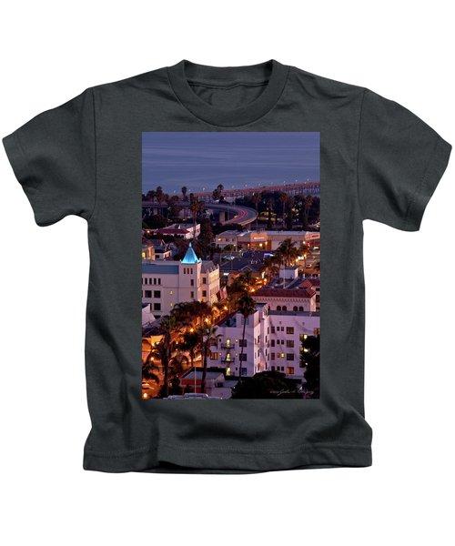 California Street At Ventura California Kids T-Shirt
