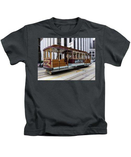 California Street Cable Car Kids T-Shirt