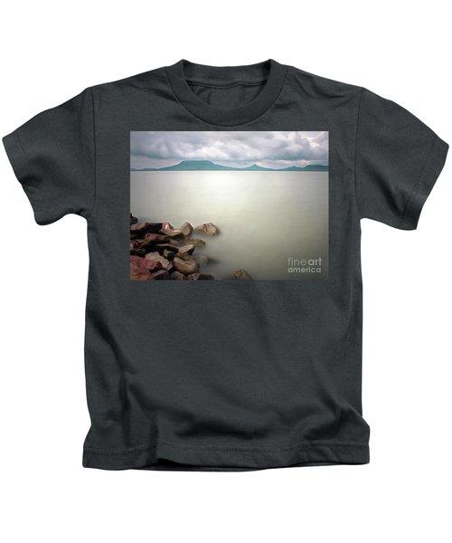 Calm At The Lake Kids T-Shirt