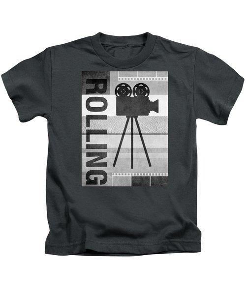 Cameras Rolling- Art By Linda Woods Kids T-Shirt