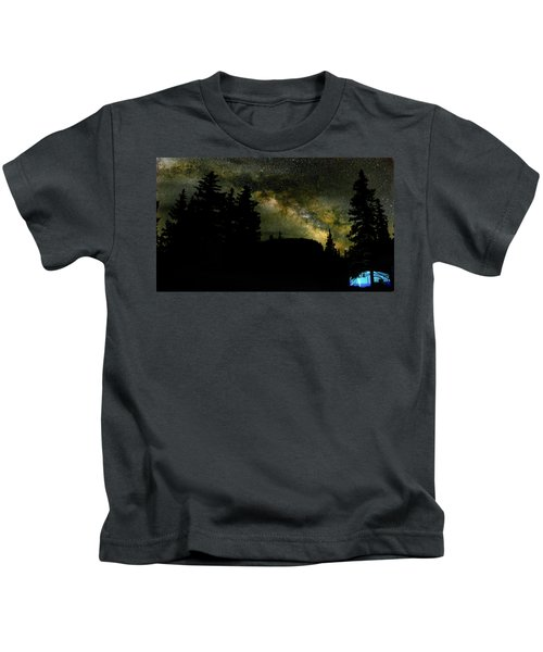 Camping Under The Milky Way 2 Kids T-Shirt