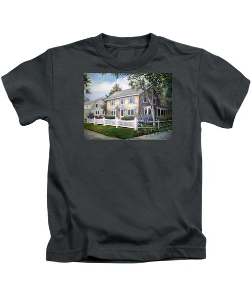 Cape Cod House Painting Kids T-Shirt