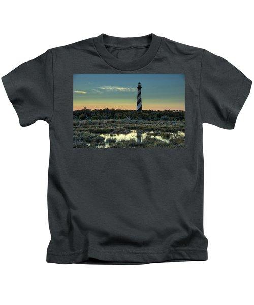 Cape Hatteras Sunset Kids T-Shirt