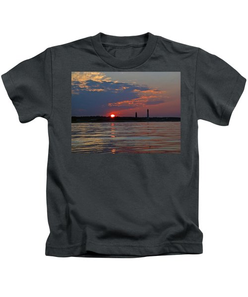 Cape Henry Sunset Kids T-Shirt