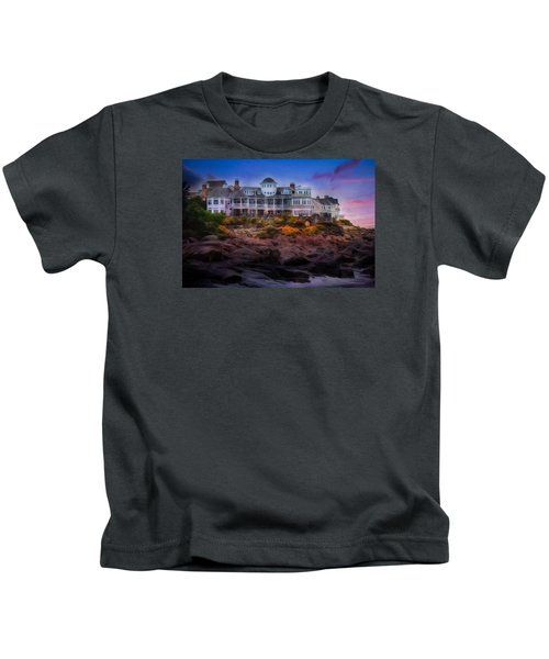 Cape Neddick Maine Scenic Vista Kids T-Shirt