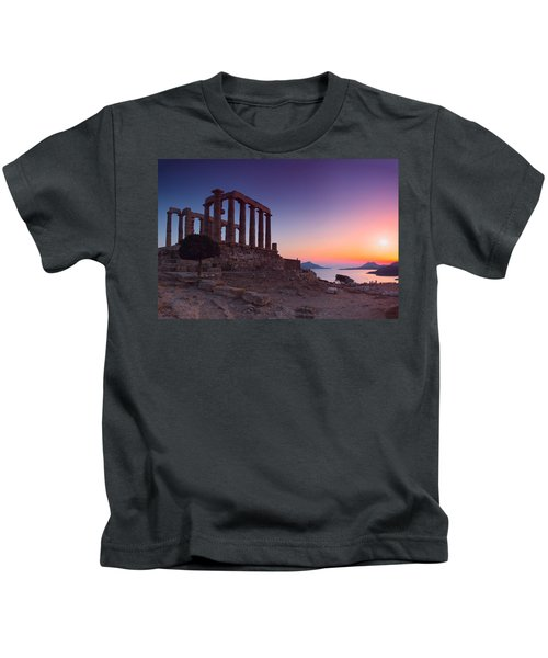 Cape Sounion Kids T-Shirt