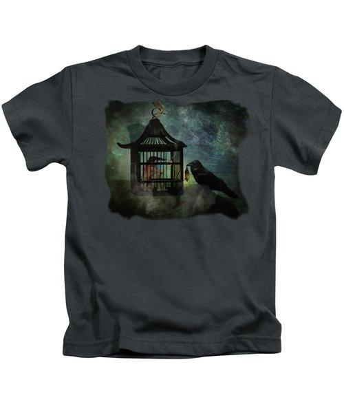 Captivity Kids T-Shirt by Terry Fleckney