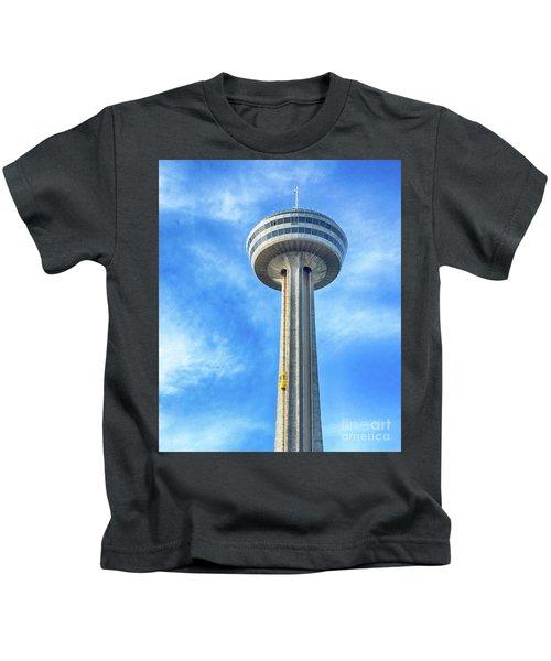 Car On Skylon Tower Kids T-Shirt