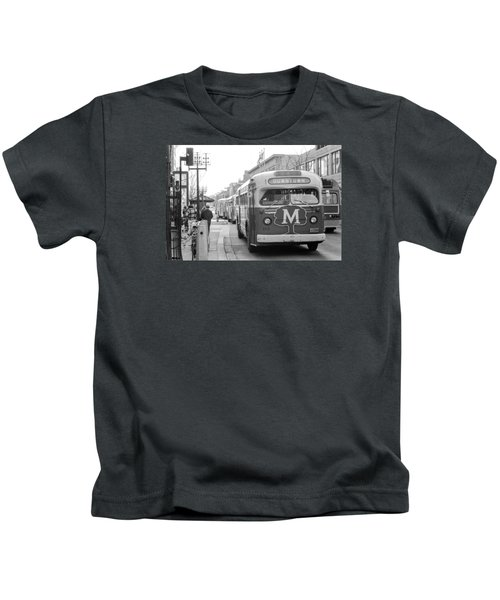 Caravan Of Buses On Nicollet Mall Kids T-Shirt
