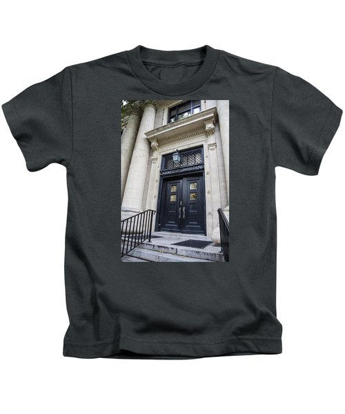 Carnegie Building Penn State  Kids T-Shirt by John McGraw