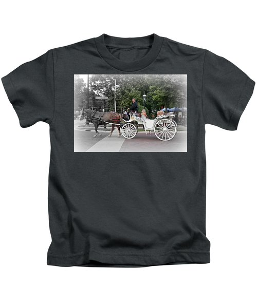 Carriage Ride Into Yesteryear Kids T-Shirt