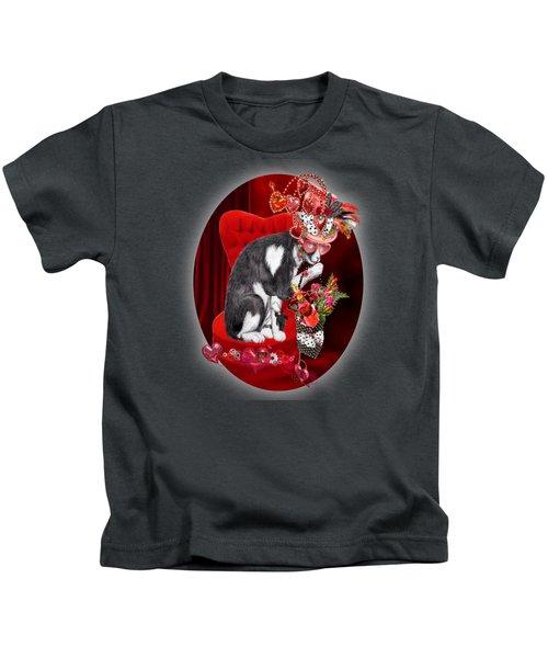 Cat In The Valentine Steam Punk Hat Kids T-Shirt