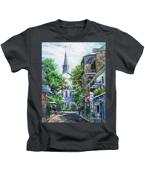 Cathedral At Orleans Kids T-Shirt