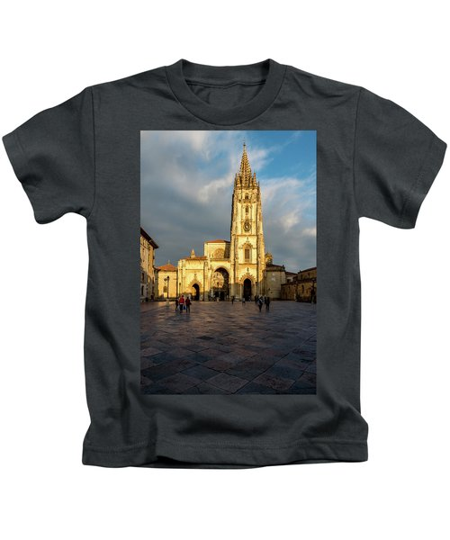 Cathedral Of Oviedo Kids T-Shirt