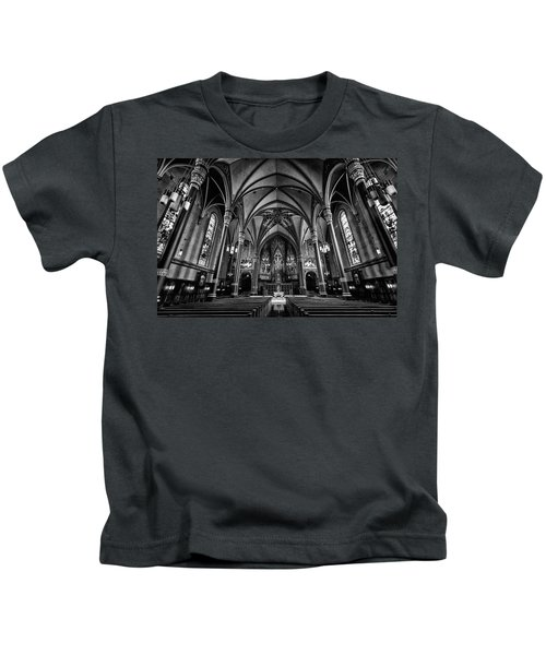 Cathedral Of The Madeline In Black And W Kids T-Shirt