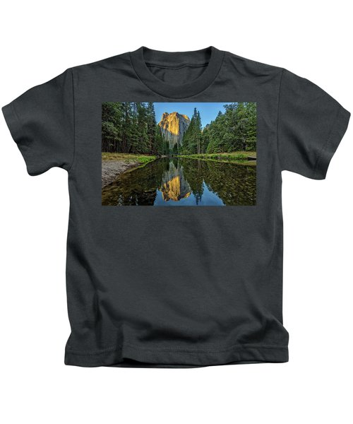 Cathedral Rocks Morning Kids T-Shirt by Peter Tellone