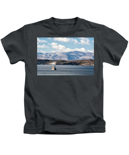 Catskill Mountains With Lighthouse Kids T-Shirt