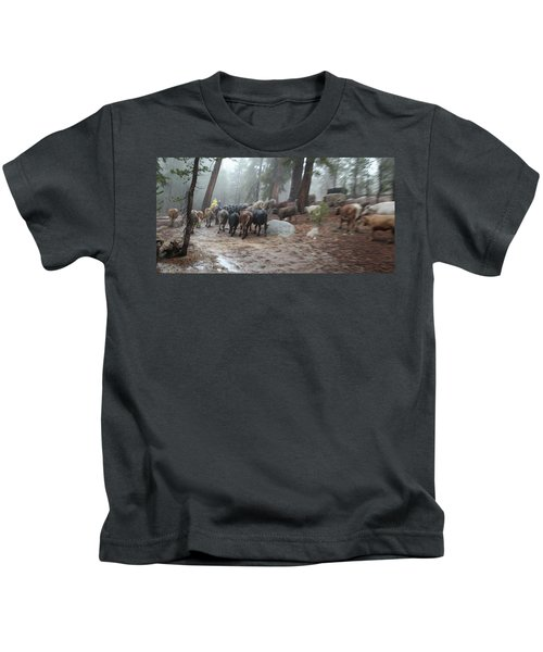 Cattle Moving Kids T-Shirt