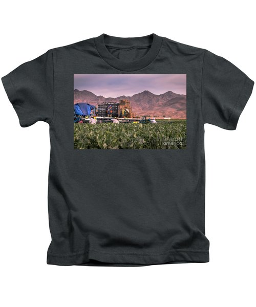 Cauliflower Harvest Kids T-Shirt by Robert Bales