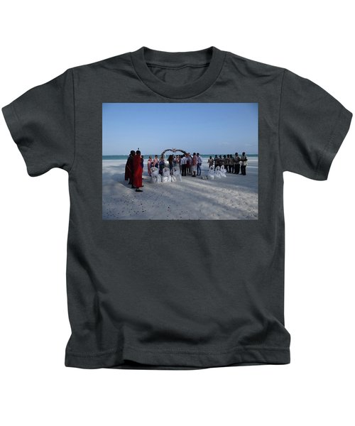 Celebrate Marriage On The Beach Kids T-Shirt