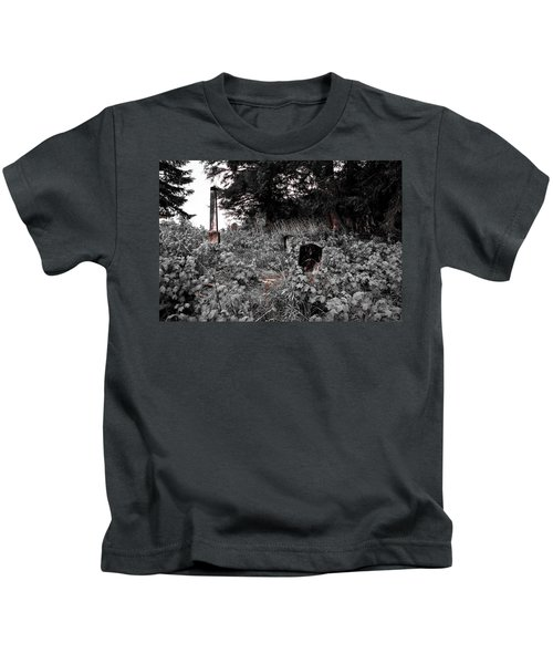 Cemetery In Red Kids T-Shirt